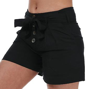 Women's Only Viva Life High Waist Belted Shorts in zwart