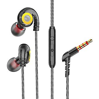 GHITRAG T05 Earbuds with Microphone and Music Management - 3.5mm AUX Earpieces Wired Earphones Earphone Volume Control Black