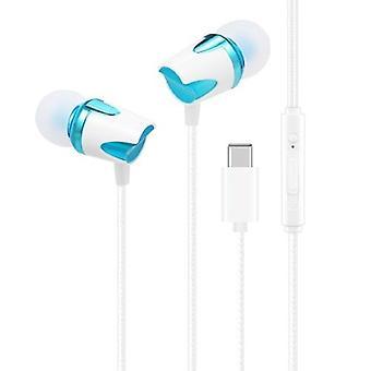 bærbar USB Type-C kablet i øret øretelefon med mikrofon