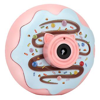 Donut bubble machine automatic light music electric bubble blowing toy