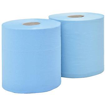 vidaXL 3-ply Industrial paper wipes 2 rolls 38 cm