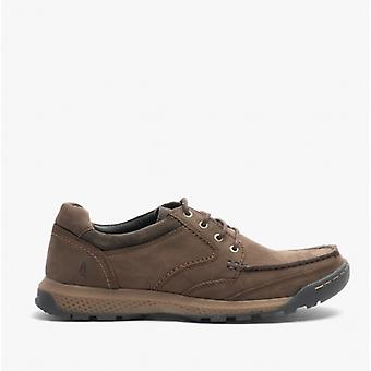 Hush Puppies Dominic Mens Leather Casual Shoes Brown