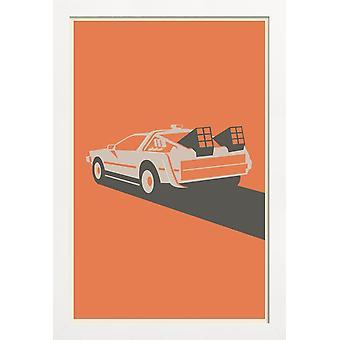 JUNIQE Print - Tillbaka till framtiden - Filmaffisch i Orange