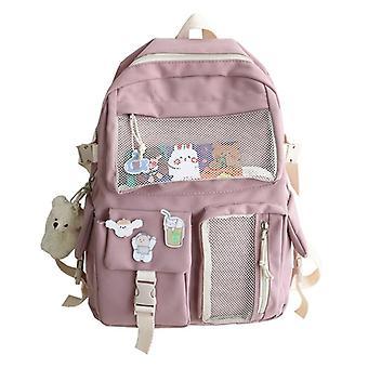 Nylon Women Fashion Waterproof Backpack For Teen School Bag