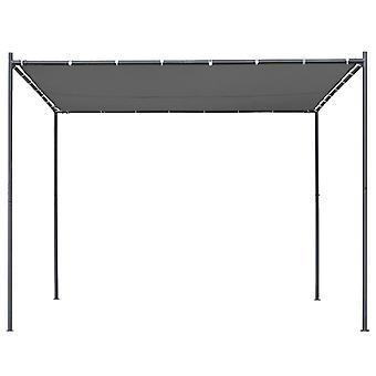 vidaXL tuinpaviljoen met schuin dak 300x300x251 cm antraciet 180 g/m²