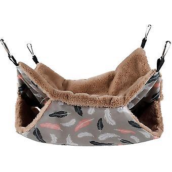 Sulka 20 * 20cm lemmikkieläinten riippumatto, oravan hamsteri roikkuu makuupussi az20911