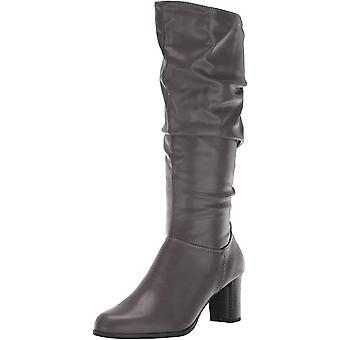 Easy Street Women's Tessla Mid Calf Boot, Grey, 8.5 W US