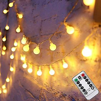 Led fairy string lights with remote & timer 50leds 8 modes battery dt4474