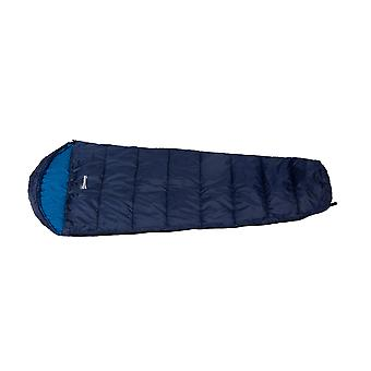 Outsunny Single Mummy Sleeping Bag Envelope Sleeping Bag 3 Season for Adults Warm Lightweight for Camping Hiking Outdoor, Blue, 210 x 75 x 5 cm