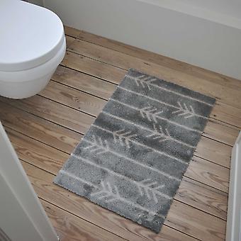 Calvin Arrow Washable Floor Mats In Grey Beige