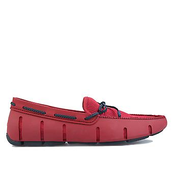 Men's Swims Braided Lace Loafer in Red