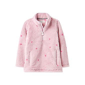 Joules Girls Merridie painettu puolivetoketju fleece takki