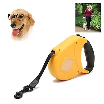 Durable Dog Leash Automatic Retractable Nylon Dog Lead Extending Puppy Walking Running Leads