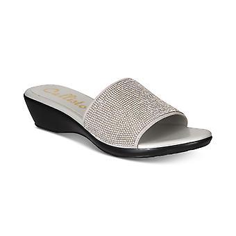 Callisto Womens Stromm Embellished Open Toe Casual Slide Sandals