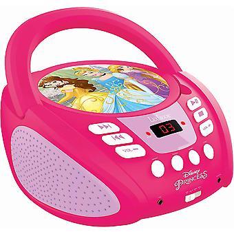 Lexibook RCD108DP Disney Princess Boombox Radio CD Player UK Stecker