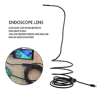 Type-c Usb Endscope Waterproof Inspection Camera 3 Meters Cable Hard/soft