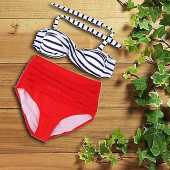Sexy Retro Pinup Rockabilly Vintage High Waist Bikini Swimsuit Swimwear S-xl