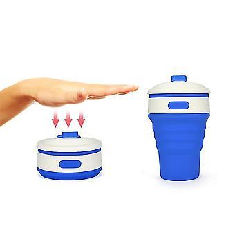 Tragbare zusammenklappbare Silikon Faltklappe versenkbare Becher Tasse Outdoor-Aktivitäten