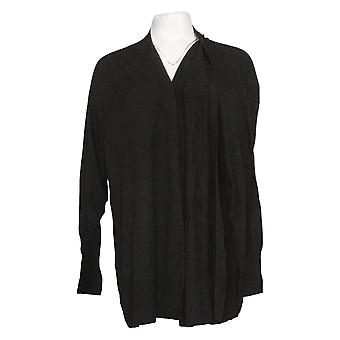 Laurie Felt Women's Sweater Plus Tie Front Ballet Black A392750