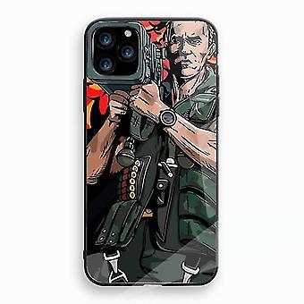 Arnold Schwarzenegger Stoßfest gehärtetem Glas Fall für Apple iPhone XR Multicolor Nr. 5