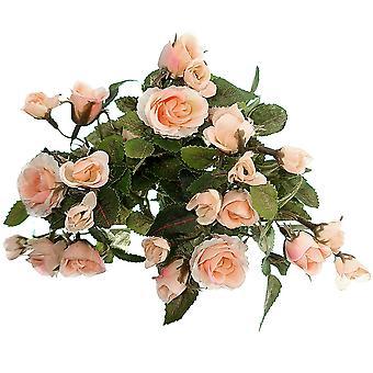 25cm lys rosa stoff te rose stil spray for blomsterdekoratør håndverk