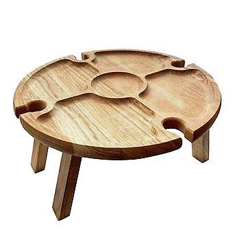 Taitettava viinipöytä piknikille - Puu