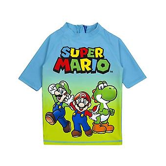 Super Mario Boys Kurzarm-Schwimmset