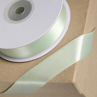 25m Sage Green 15mm Wide Satin Ribbon för akvarellbär kex