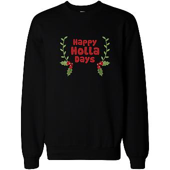 Glad Holla dagar tröjor rolig semester tröja Pullover fleecetröja