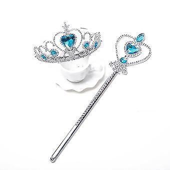 Frozen Girls Elsa Anna Wig Tiara Crown & Magic Wand Fancy Dress Accessories