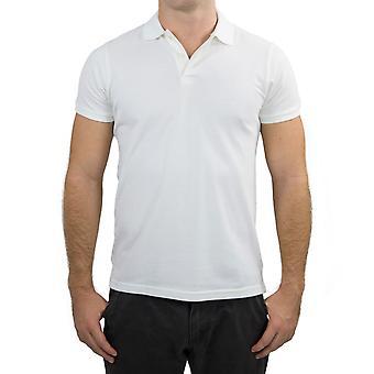 Deluxe 100% organic cotton polo shirt slim fit t shirt top plain s-xxl new