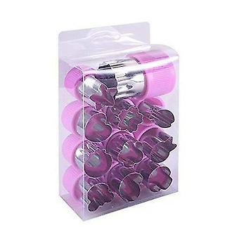 12pcs Stainless Steel Fruit Vegetable Cookie Shape Cutter Food Mold Tool