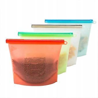 Värme och återanvändbara silikonmatvårdspåsar, matvårdspåsar, hermetiskt förseglade livsmedelsbevarande behållare, ekologisk polyvalent coo