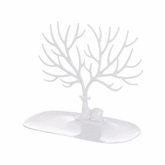 Home Kreativer Desktop Schmuck Stand Nordic Geweih Halskette Regal Armband Hand Schmuck Ohrring Schmuck Aufbewahrung Rack-weiß