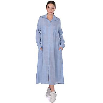 lomme lang rutete skjorte kjole