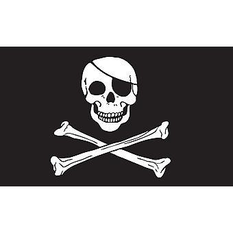 5ft x 3ft Flag - Pirate - Skull and Cross Bones