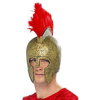 Perseus Gladiátor sisak arany, piros sisak Bush