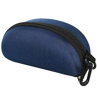 TRIXES Protective Moulded Sunglasses Case Dark Blue Zipped
