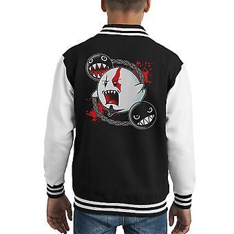 Ghost Of Sparta God Of War Mario Kid's Varsity Jacket