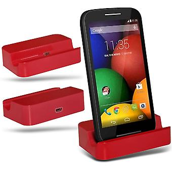 ONX3 Samsung Galaxy A3 / Galaxy A3 Duos Micro USB Charging Dock Cradle Desktop Charger Station-Red