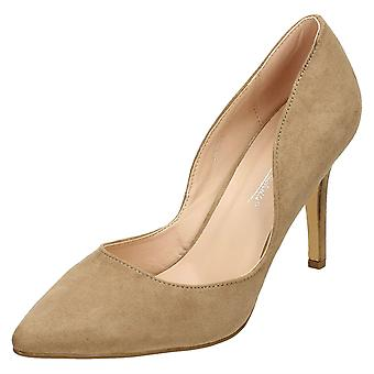 Ladies Anne Michelle High Heel Low Waisted Court Shoes F9994