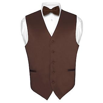 Hommes veste robe & BowTie solide ensemble de noeud papillon pour costume Tux