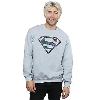 DC Comics mannen Superman Floral Logo 1 Sweatshirt
