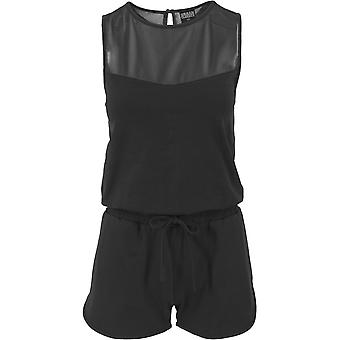 Urban Classics Ladies - TECH MESH Hot Jumpsuit schwarz