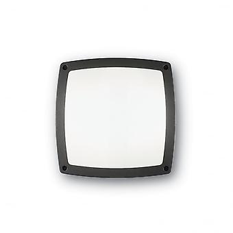 Ideell Lux Comet 3 pære grå firkant Flush veggen lys