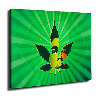 Bob Marley 42 Weed Wall Art Canvas 40cm x 30cm | Wellcoda