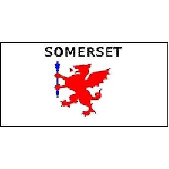 Somerset vlag 5 ft x 3 ft met oogjes voor verkeerd-om