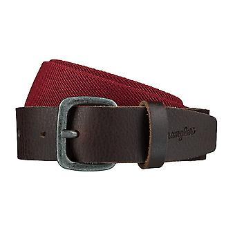 WRANGLER belte lærbelter menn sikkerhetsbelter strekke belte rød / brun 4082