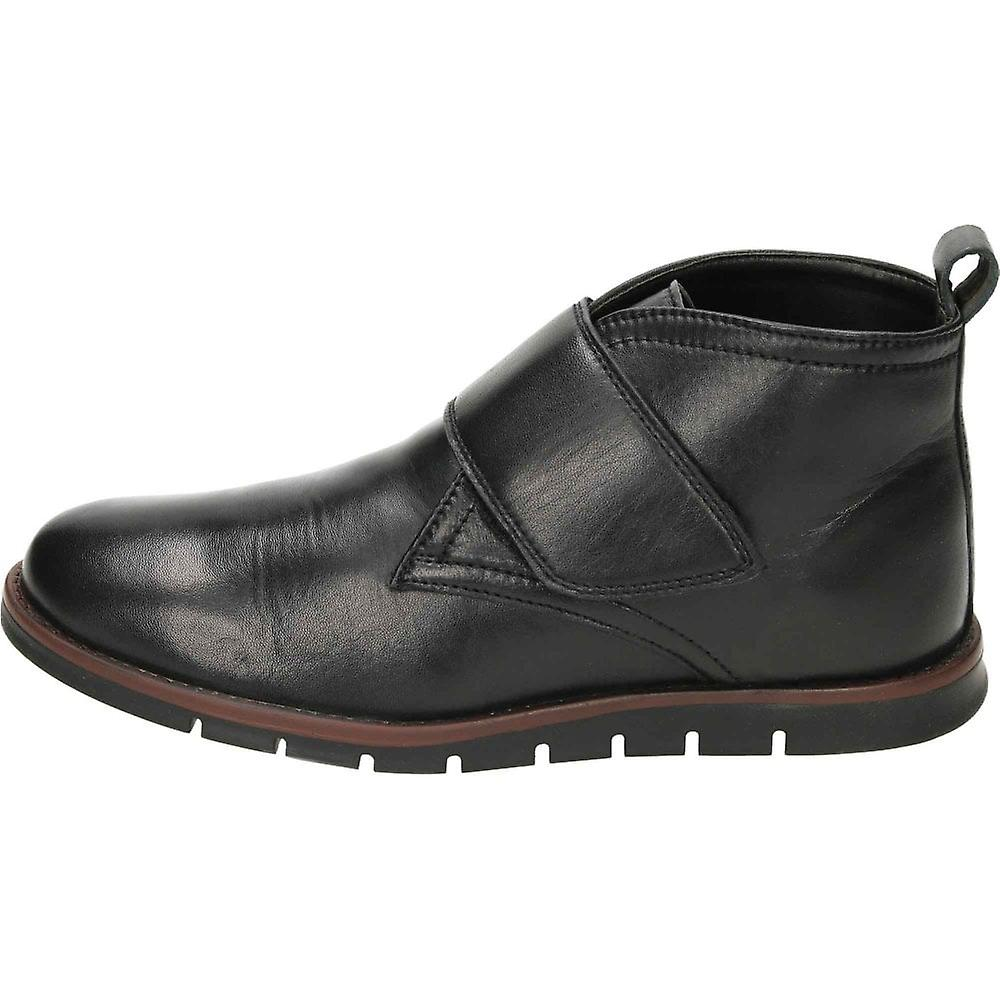 Dr Keller Touch Fastening Black Leather Ankle Boots g3pMA5