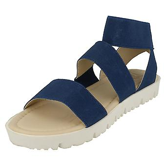 Ladies Down To Earth Elasticated Flat Sandals
